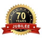 Jubiläum-Knopf mit Fahne - 70 JAHRE Lizenzfreie Stockfotos