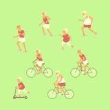 Jubilado activo sano de la forma de vida libre illustration