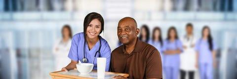 Jubilado en el hospital Imagen de archivo libre de regalías