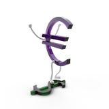 A jubilant character euro Stock Photography