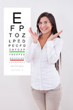 Jubilant lady with new glasses Stock Images