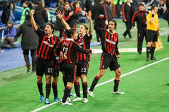 Jubilant Milan Royalty Free Stock Images