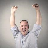 Jubilating businessman Royalty Free Stock Image