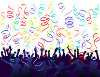 Jubilation and confetti. Event celebration Royalty Free Stock Photos