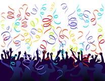 Jubilation et confettis Photos libres de droits