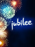 Jubilee anniversary firework celebration party blue Stock Photography