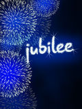 Jubilee anniversary firework celebration party blue Royalty Free Stock Photo