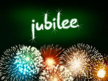 Jubilee anniversary firework celebration party green. Jubilee anniversary firework celebration party fireworks green Stock Images