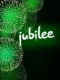 Jubilee anniversary firework celebration party green Royalty Free Stock Photography
