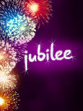 Jubilee anniversary firework celebration party pink Royalty Free Stock Images
