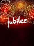 Jubilee anniversary firework celebration party red Stock Photography