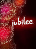 Jubilee anniversary firework celebration party red Stock Photos