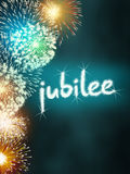 Jubilee anniversary firework celebration party turquoise Stock Images