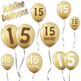 Jubilee balloons Royalty Free Stock Images