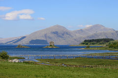 Jubilee bridge, Appin, Castle Stalker, Scotland Royalty Free Stock Images
