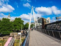 Jubilee Bridge in London, hdr Royalty Free Stock Photos