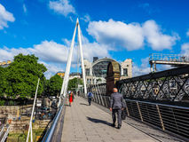 Jubilee Bridge in London (hdr) Royalty Free Stock Image