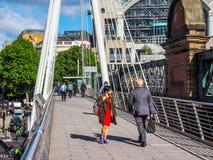 Jubilee Bridge in London (hdr) Stock Photo