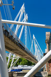 Jubilee Bridge in London over river Thames Royalty Free Stock Photography