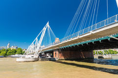 Jubilee Bridge in London over river Thames Royalty Free Stock Images