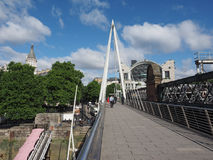 Jubilee Bridge in London Royalty Free Stock Photos