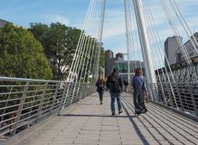 Jubilee Bridge in London Stock Photography