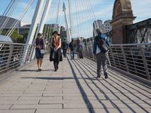Jubilee Bridge in London Royalty Free Stock Photo