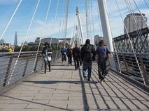Jubilee Bridge in London Stock Photos