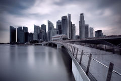 Jubilee Bridge Singapore Stock Photography