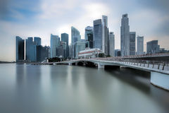Jubilee Bridge Singapore Stock Images
