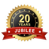 Jubilee Button with Banner - 20 YEARS Royalty Free Stock Photos
