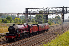 Jubilee class steam train Stock Photo