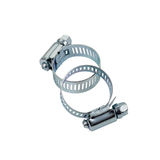 Jubilee clips. Jubilee or hose clamp clips on white Stock Photography
