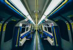 Jubilee Line. Empty Jubilee Line, London underground royalty free stock images