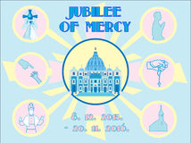 Jubilee of Mercy Holy Year background Royalty Free Stock Image