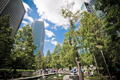 Jubilee Park at Canary Wharf, London Royalty Free Stock Image