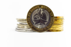 Jubilee ten roubles. Dedicated to the great Patriotic war Royalty Free Stock Photography