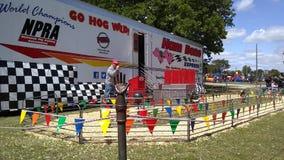Pig racing. Jubilee Terrell Texas Stock Photo