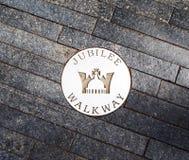 Jubilee walkway pin in London, UK Royalty Free Stock Photo