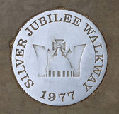 Jubilee walkway. Sign in London Stock Photography