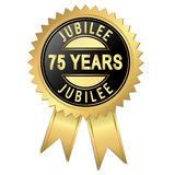 Jubilee - 75 years. Jubilee button with 75 years Stock Images