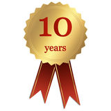 Jubilee - 10 years. Jubilee seal with 10 years Stock Photography
