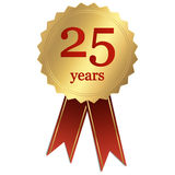 Jubilee - 25 years. Jubilee seal with 25 years Royalty Free Stock Images