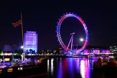 Jubileo 2012 de la reina del ojo de Londres Imágenes de archivo libres de regalías