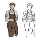 Jubilera nakreślenia doodle trwanie wektorowa ilustracyjna ręka rysujący wi Obrazy Royalty Free