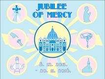 Jubileum van achtergrond van het Genade de Heilige Jaar stock illustratie