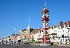 Jubileumklok op Promenade, Weymouth Stock Fotografie
