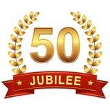 Jubileumknoop met Banner 50 JAAR stock illustratie