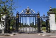 Jubileumportar på regenter parkerar i London Arkivbilder