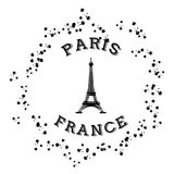 Jubileums- Frankrike symbol Royaltyfri Bild